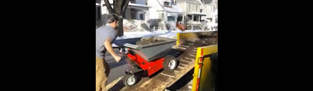 E-750-Electric-Wheelbarrow-Hauling-Debris