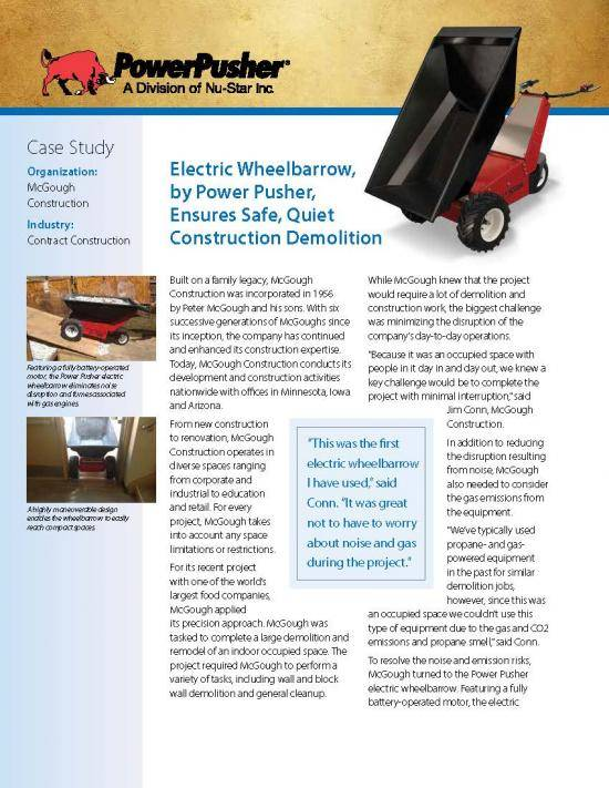 Power-Pusher-E-750-McGough-Construction-Case-Study Page 1
