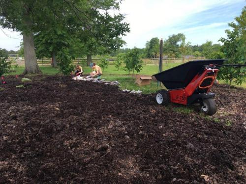 E-750 Electric Wheelbarrow Duke Farms Landscaping 1