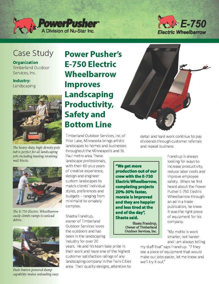 Power-Pusher-E-750-Timberland-Case-Study Page 1